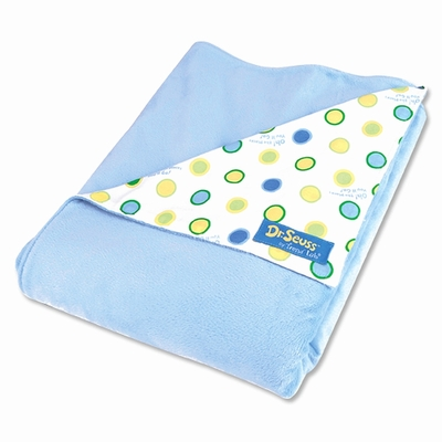 Trend Lab Dr. Seuss Oh, the Places You'll Go! Blue Receiving Blanket