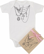 "Organic Cotton Printed  Bodysuit  ""Draped in Jewels"""