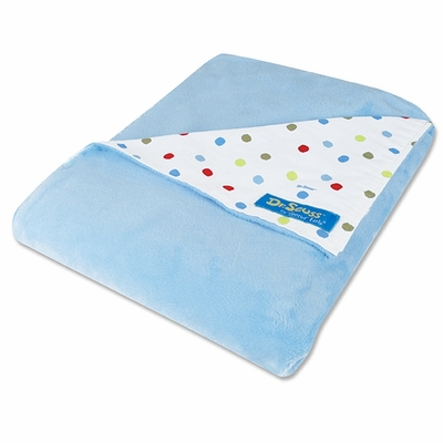 Dr. Seuss One fish, two fish Dot Print Blanket