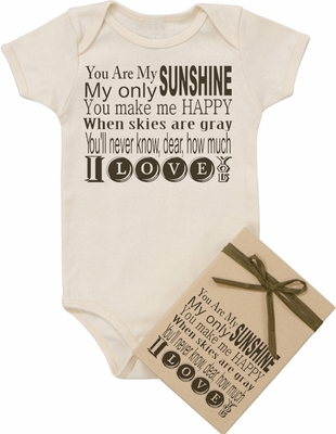 "Organic Cotton Printed Bodysuit ""Sunshine"""
