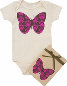 "Organic Cotton Printed  Bodysuit  ""Butterfly"""