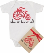 "Organic Cotton Printed  Bodysuit  ""How I Roll"""