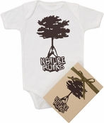 "Organic Cotton Printed  Bodysuit  ""Nature Rocks"""