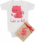 "Organic Cotton Printed  Bodysuit  ""Little Devil"""