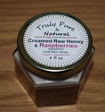 Raw Creamed Honey - Organic Raspberry 6 oz