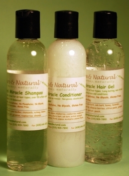 Tate's Combo Pack 4 oz. Shampoo, Conditioner <br>and Hair Gel