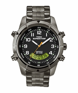 T49826 Timex Expedition Mens Watch Metal Combo Digital + Analog Dial