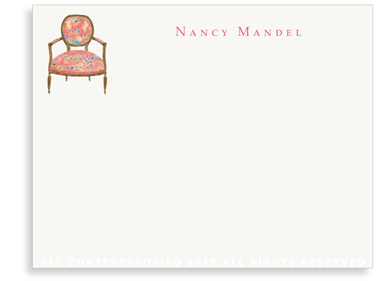 French Arm Chair - Flat Note cards