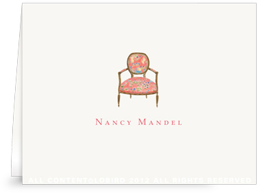 French Arm Chair - Folded Note Cards