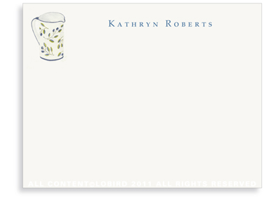 Blue Italian Pitcher - Flat Note cards