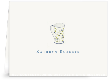 Blue Italian Pitcher - Folded Note Cards