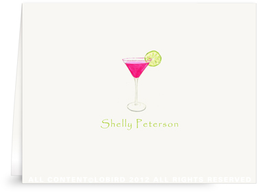 Pink Cosmo - Folded Note Cards