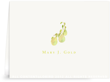 Pear Branch - Folded Note Cards