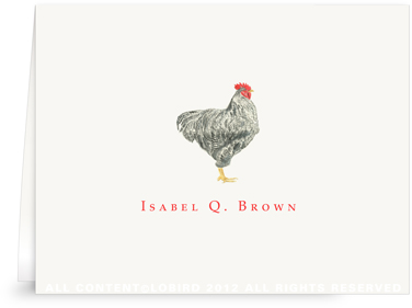 Plymouth Rooster - Folded Note Cards
