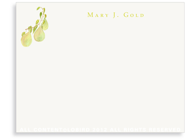 Pear Branch - Flat Note Cards