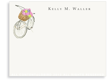Country Bike - Flat Note cards