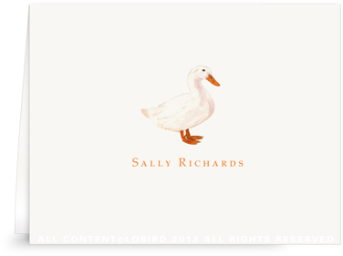 White Duck - Folded Note Cards