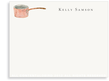 Chef's Copper Pot - Flat Note Cards