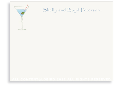 Martini - Flat Note Cards