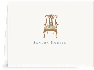 Chippendale Chair - Folded Note Cards