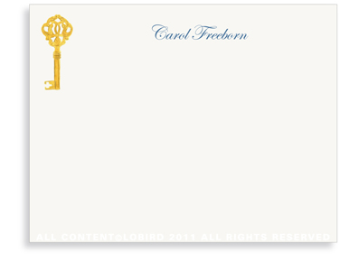 Gold Key - Flat Note cards