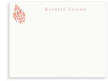 Babylon Sea Shell- Flat Note cards