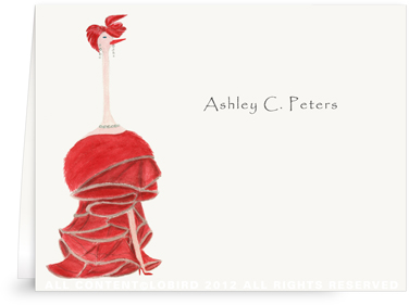 Ostrich - Audrey - Folded Note Cards