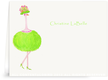 Ostrich-Gabbi - Folded Note Cards