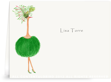 Ostrich - Jacqueline- Folded Note Cards