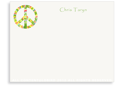 Rasta Peace Sign - Flat Note Cards