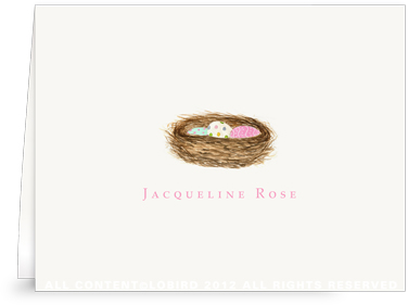 Nest with Easter Eggs - Folded Note Cards
