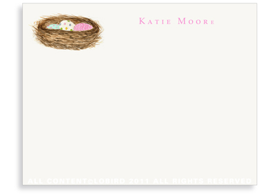 Nest with Easter Eggs - Flat Note Cards