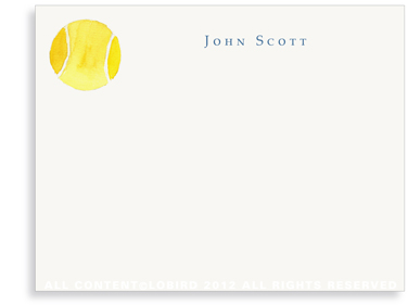 Tennis Ball - Flat Note Cards