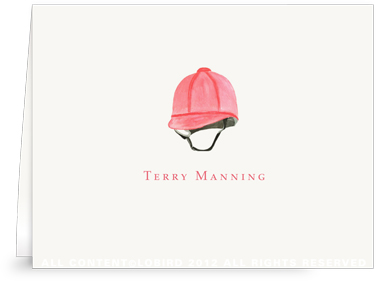 Red Riding Helmet - Folded Note Cards