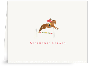 Horse Jumping - Folded Note Cards