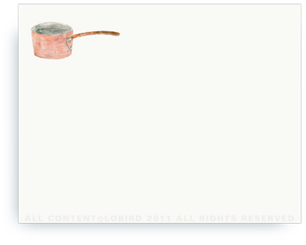 "Chef's Copper Pot - Non-Personalized Note Cards (4.25"" X 5.5"")"
