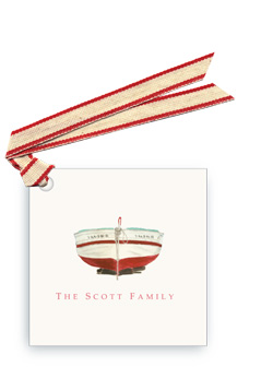 Red Spanish Boat - Gift Tags