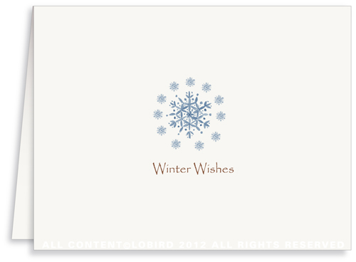 Blue Snowflakes - Greeting Card