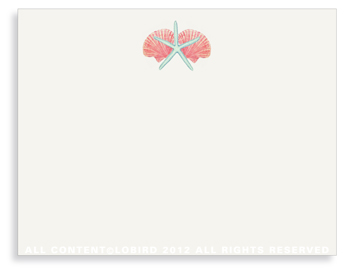 "Shell Mix- 1- Non-Personalized Note Cards (4.25"" X 5.5"")"