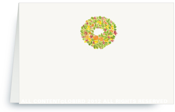 Autumn Wreath - Holiday Place Cards
