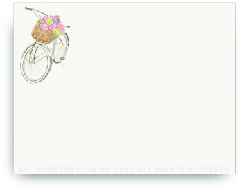 "Country Bike - Non-Personalized Note Cards (4.25"" x 5.5"")"