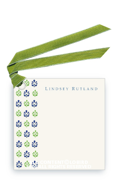 Block Print Tapestry - Midnight Blue/Green - Gift Tags