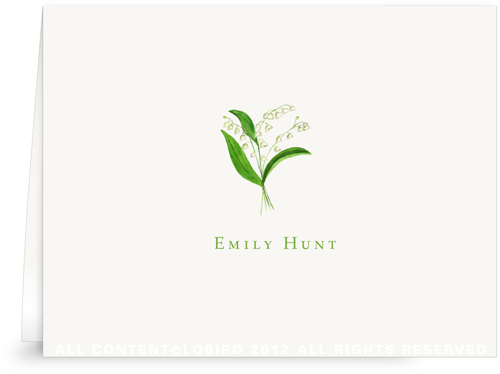 Lily of the Valley - Folded Note Cards