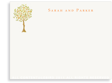 Tangerine Tree - Flat Note cards
