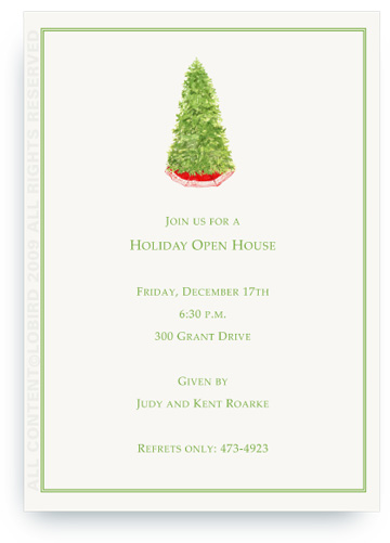Christmas Tree - Invitations