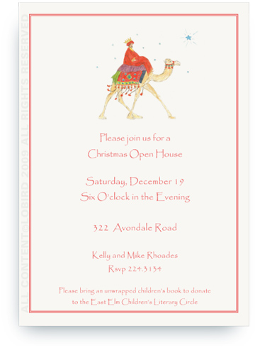 Wise Man on Camel - Invitations