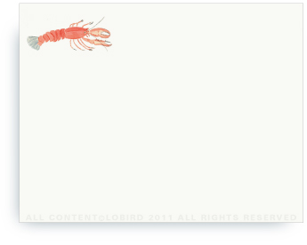 "Lobster - Non-Personalized Note Cards (4.25"" X 5.5"")"