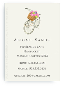 Country Bike with Flowers - Calling Cards