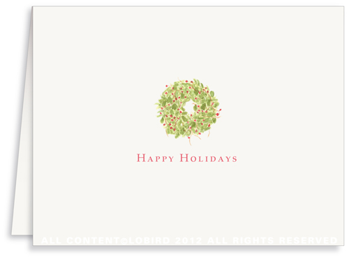 Holiday Wreath - Holiday Greeting Cards