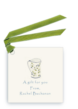 Blue Italian Oil Pitcher - Gift Tags